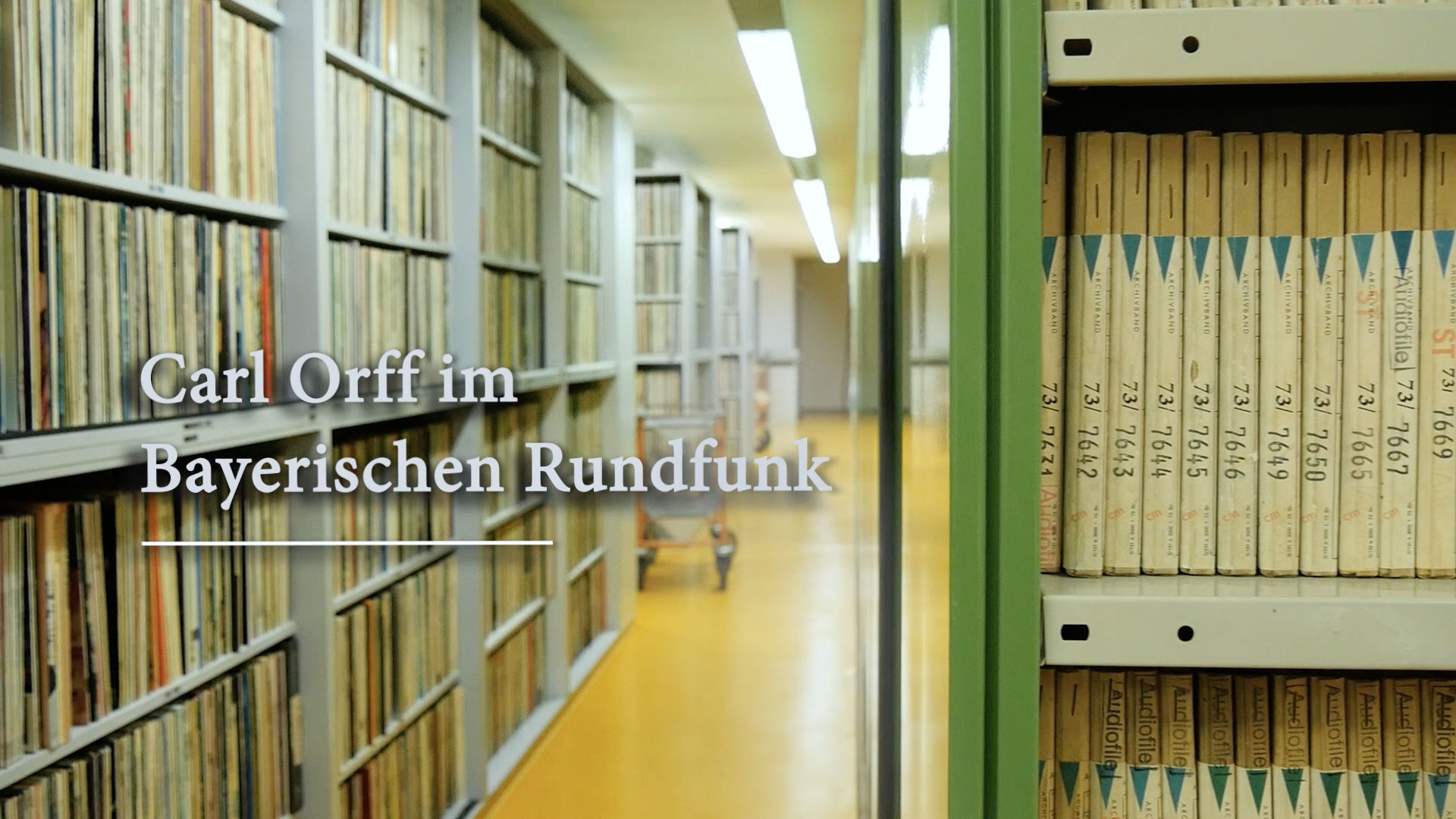"Documentary for the Orff-Zentrum München, presenting the project ""Carl Orff in Bayerischer Rundfunk""."
